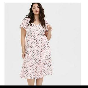 Torrid size 0 heart dress